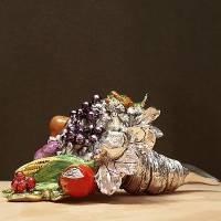 Декоративный рожок с фруктами, цветной Euro FAR F254AD