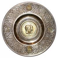"Тарелка настенная ""Коронация императора Александра III"", 1883г, Овчинников 16C57"