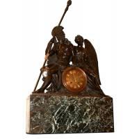 """Часы каминные """"Хранители Вечности"""" + мраморная подставка B81"""