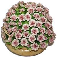 Декоративная корзина Artigiano Capodimonte 0210/7/pink