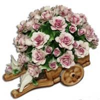 Декоративная тележка Artigiano Capodimonte 0210/25/pink