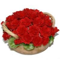 Декоративная корзина Artigiano Capodimonte 0210/20/red