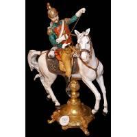 """Скульптура """"Улан на белом коне"""" 796/3/TICHE"""