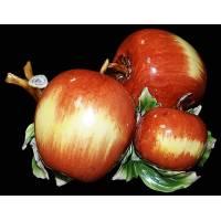 "Декоративная веточка ""Три яблока"" Artigiano Capodimonte F/013"