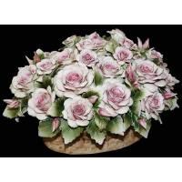 """Декоративная корзинка """"Розы""""  Artigiano Capodimonte 2010/6/pink"""