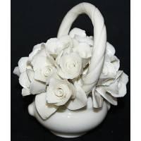 Декоративная корзина с тюльпанами, белая  Artigiano Capodimonte 196/bianco