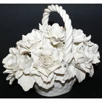Декоративная корзина с розами Artigiano Capodimonte 0210/19