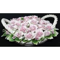 Декоративная корзина с розами Artigiano Capodimonte 0210/17/rose