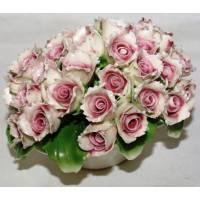 Декоративная корзина Artigiano Capodimonte 0210/27/pink