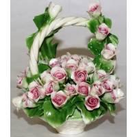 Декоративная корзина Artigiano Capodimonte 0210/24/pink