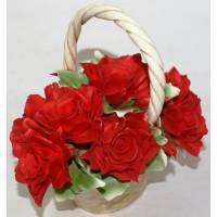 Декоративная корзина Artigiano Capodimonte 0210/19/red