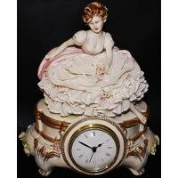 """Часы """"Девушка с цветами"""" Porcellane Principe 417/PP"""