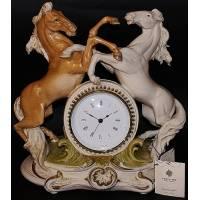 "Часы ""Кони"" Porcellane Principe 402/PP"