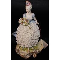 "Статуэтка ""Дама с цветами"" Porcellane Principe 1118/PP"