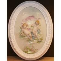 "Барельеф ""Ангелочки с розами"" Porcellane Principe 775W/PP"