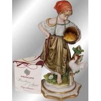 """Статуэтка """"Деревенская девочка"""" Porcellane Principe 581/PP"""