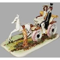 """Статуэтка """"Дама и кавалер в коляске"""" Zampiva 70031/Z"""