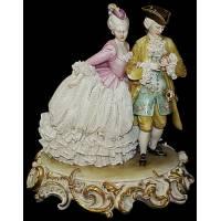 """Статуэтка """"Галантная пара"""" Porcellane Principe 1109/PP"""