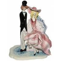 """Скульптура """"Стоящий кавалер рядом с дамой в кресле"""" Zampiva 70227/Z"""