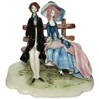 "Скульптура ""Пара седящая на скамейке"" Zampiva 70217/Z"