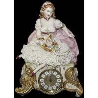 """Часы """"Дама с цветами"""" Porcellane Principe 425/PP"""