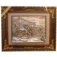 """Панно """"Тройка коней"""" Arte Casa 80100-N.CAV/CASA"""