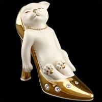 "Статуэтка ""Котёнок в туфле"" Ahura S1844W1K/AOP"