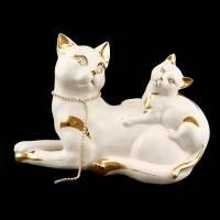 "Статуэтка ""Кошка с котёнком"" Ahura S1795C/AOLY"