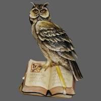 """Статуэтка """"Сова с книгой"""" Porcellane Principe 846/PP"""