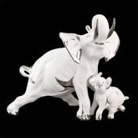 """Статуэтка """"Слониха со слонёнком"""" Ahura R1376/1F/BPLY"""