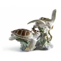 """Статуэтка """"Морские черепахи"""" Lladro 01006953"""
