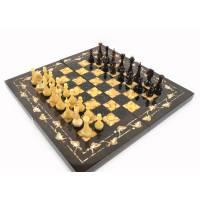 """Янтарные шахматы """"Готика"""" (Морёный дуб) ES030"""
