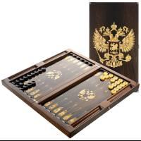 """Нарды янтарные """"Герб Российской Федерации"""" ES010"""
