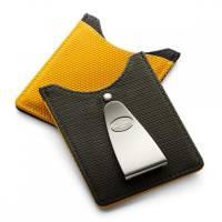 Футляр для кредитных карт с клипом для денег, со вставкой стального цвета Dalvey   dl71012