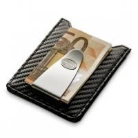 Футляр для кредитных карт с клипом для денег, со вставкой стального цвета Dalvey   dl71011