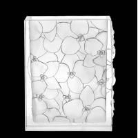 """Ваза для цветов квадратная """"Орхидеи"""" белая Daum 05103-1"""