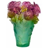"Ваза для цветов ""Rose Passion"" зелено-розовая (h=35) Daum 05282"