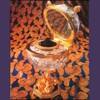 "Икорница ""Czar Alexander"" Faberge 20-PL53-Dauphin-CP Clear-Gold"