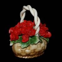 Декоративная корзина Artigiano Capodimonte 0210/28/red