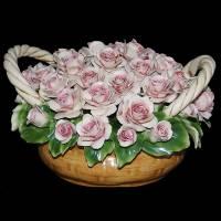 Декоративная корзина Artigiano Capodimonte 0210/20/pink