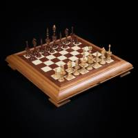 "Шахматы подарочные ""Селенус"" (темная доска) AVTSH44"