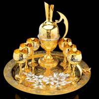 """Набор подарочный для вина """"Восточный"""" на 6 персон Златоуст Авторские работы RV0013892CG"""