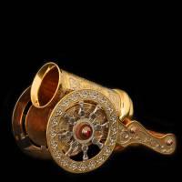 """Стопка для водки """"Пушка на подставке - лафете"""" Златоуст Авторские работы RV0034203CG"""