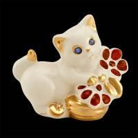 "Статуэтка ""Котёнок с цветком"" Ahura SF0023/AKRO"
