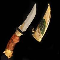 """Нож """"Медведь"""" Златоуст Авторские работы RV26002CG"""