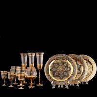 """Набор для вина """"Праздничный"""" Златоуст Авторские работы RV0029623CG"""