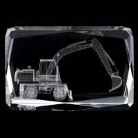 """Лазерная графика куб """"Экскаватор"""" Авторские работы RV16579CG"""