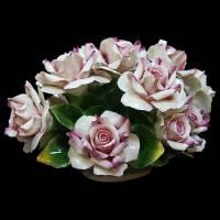 "Декоративная корзинка ""Чайные розы"" Artigiano Capodimonte 288/AC/pink"