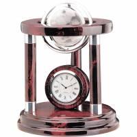 Часы настольные с глобусом Linea del Tempo A9089R