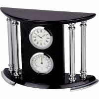 Часы настольные с термометром и гигрометром Linea del Tempo A9118B